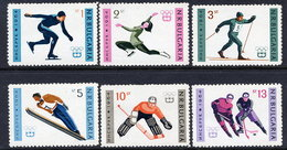 BULGARIA 1964 Winter Olympic Games, Innsbruck; Set And Block  MNH / **.  Michel 1426-31 + Block 12 - Bulgaria