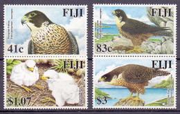 Fiji 2005 Peregrine Falcon, Birds Of Prey, Eagle, Falco Peregrinus. Fauna, Duck Hawk (4v) MNH (M-415)