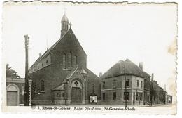 Rhode-St-Genèse - Kapel Ste-Anna - St-Genesius-Rhode, Circulée - Edit. L'Heembeekoise - 2 Scans - Rhode-St-Genèse - St-Genesius-Rode