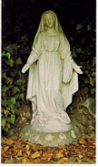 IMAGE PIEUSE HOLY CARD SANTINI CHROMO La Sainte Vierge Est Gracieuse Et Souriante Je Préfère ND Des Eaux Bernadette - Images Religieuses