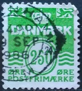DINAMARCA 1985 Wavy Lines. USADO - USED. - Dinamarca