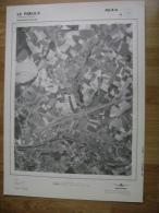 GRAND PHOTO VUE AERIENNE 66 Cm X 48 Cm De 1979 LE ROEULX VILLE SUR HAINE - Cartes Topographiques