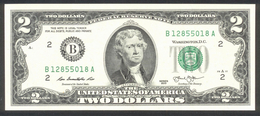USA 2013, Federal Reserve Note, 2 $, Two Dollars, B = New York - UNC - Erhaltung I - Federal Reserve (1928-...)