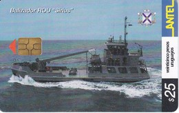 257 TARJETA DE URUGUAY DE UN BALIZADOR SIRIUS (BARCO-SHIP)