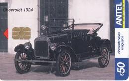 359 TARJETA DE URUGUAY DE UN COCHE CHEVROLET 1924 (CAR)