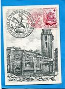 Marcophilie-carte Illustrée MARSEILLE-façade église St Martin+timbreN°1278 Croix Rouge Oblit Cachet Rouge - Marcophilie (Lettres)