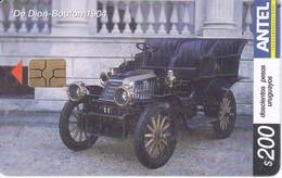 345 TARJETA DE URUGUAY DE UN COCHE DE DION-BOUTON 1904 (CAR)