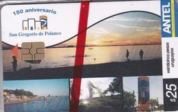 Nº 284 TARJETA DE URUGUAY DE 150 ANIVERSARIO SAN GREGORIO DE POLANCO (SUNSET)  (NUEVA-MINT)
