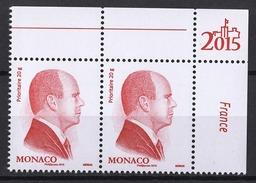 ** MONACO 2015 - PAIRE N° 2952 - ROUGE DE S.A.S. LE PRINCE ALBERT II - NEUFS ** /G4 - Neufs