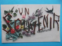 51 : AY En CHAMPAGNE : UN SOUVENIR  De CHAMPAGNE , C.P.A., Carte En Très Bon état - Greetings From...