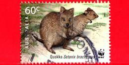 AUSTRALIA - Usato - 2011 - 50 Anni Del WWF - Quokka (Setonix Brachyurus) - 60 - 2010-... Elizabeth II