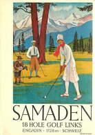 Samaden Club De Golf Engadin GR Repro D'affiche Ancienne  Voyagée - GR Grisons