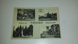 C-50833 SALUTI DA PETRELLA SALTO PIAZZA INDIPENDENZA MONUMENTO AI CADUTI CHIESA SANTUARIO - Rieti
