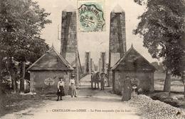 CHATILLON-sur-LOIRE  -  Le Pont Suspendu (vu De Face) - Chatillon Sur Loire