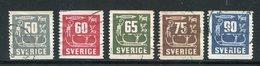 SUEDE- Y&T N°389 à 393- Oblitérés