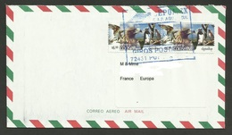 MEXICO / Lettre - Cover Air Mail For FRANCE - Eagles & Birds Of Prey