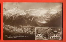 IBC-07  Hotel Du Chamois, Les Diablerets Propriétaire Veuve Pellet. Cachet 1922. Perrochet-Matile 9894, Sepia - VD Vaud