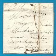 Ardèche - Les Vans Pour St Etienne. LAC De 1826 - Marcofilie (Brieven)