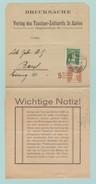 F16 Entier Repiqué + Verso.  Bande Journal Drucksache. Verlag Des Taschen Zolltarifs St-Gallen 12.11.21 - Postwaardestukken