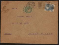 18662 Holanda Carta Circulada Para A Suiça Com Carimbo Com Carimbo Consular Do Brasil 1916 - 1891-1948 (Wilhelmine)