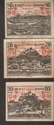 P80-10. Austria Land SALZBURG 10 20 50 Heller 1920 Austrian Notgeld 3psc. Lot - Autriche