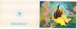 """Nations-Unies--1989-Document Philatélique-Bonne Année-tp """"Droits De L'Homme""""-illustration Signée - Office De Genève"""