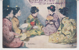 JAPON / JAPONAISES  :  BUTTERFLIES  Carte Oilette  TUCK Poscard