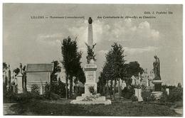 62 : LILLERS - MONUMENT COMMEMORATIF DES COMBATTANTS DE 1870-1871 AU CIMETIERE - Lillers