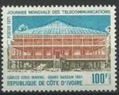 """Cote Ivoire YT 318 """" Télécommunications """" 1971 Neuf** - Côte D'Ivoire (1960-...)"""