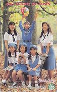 Télécarte Japon / 110-016 - SCOUTISME - SCOUTING GIRL SCOUT Japan Phonecard - PFADFINDER TK / Balloon Jumelles - 113 - Jeux