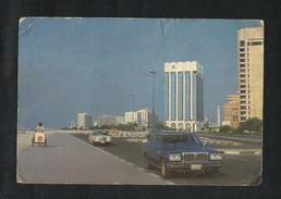 United Arab Emirates Abu Dhabi Cornish Road Picture Postcard View Card U A E