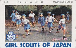 Télécarte Japon / 110-011 - SCOUTISME Girl Scout - Jeu Dans Les Bois - SCOUTING Japan Phonecard - PFADFINDER - 115 - Jeux