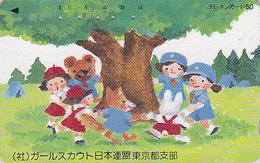 Télécarte Japon / 110-66638 - SCOUTISME Scout Ours Lapin Renard / Jeu - SCOUTING Japan Phonecard - PFADFINDER - 117 - Japan