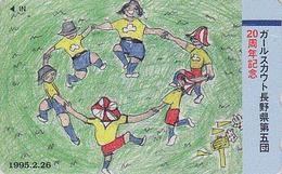 Télécarte Japon / 110-011 - SCOUTISME Scout / Jeu Danse Ronde - SCOUTING Japan Phonecard - PFADFINDER - 118 - Jeux
