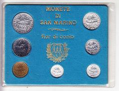 SAINT MARIN MINT SET 1978 UNCIRCULATED CAT WORLD COINS: MS 12. (7P2) - Saint-Marin