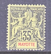 FRENCH  MAYOTTE  13  Perf 14  * - Mayotte (1892-2011)