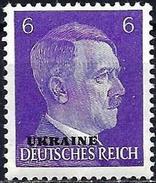 Russia (German Occupation) 1941 - Adolf Hitler, Overprinted UKRAINE ( Mi 5 - YT 43 ) MNH**