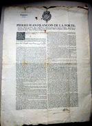 38 ECLOSE ISERE DAUPHINE CAPITATION 1752 GRAND PLACARD ANNONCANT LES MODALITES D'APPLICATION DE CET IMPOT PEU POPULAIRE - Documents Historiques
