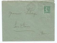 2037 - Lettre 1926 Lyon  Terreaux Pour Les Chères 69 Rhône Liberge Flamme Vague - 1921-1960: Modern Period