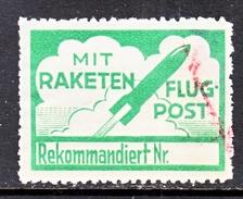 AUSTRIA   AEROPHILATELIC  ROCKET  LABEL 2 B    (o) - Airmail