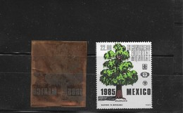 O) 1985 MEXICO,PRINT PLATE,  IX WORLD FORESTRY CONGRESS,  TREE AHUEHUETE, XF - Mexico