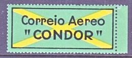 BRAZIL  AEROPHILATELIC  CONDOR  AEREO  LABEL    ** - Airmail (Private Companies)