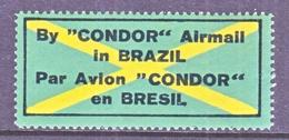 BRAZIL  AEROPHILATELIC  CONDOR  AEREO  LABEL    * - Airmail (Private Companies)