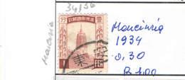 Cina Pop 1933 Manciukuo Vari N.1 Valori Usati Scott.38  See Scan - Altri