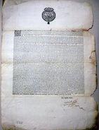 38 DAUPHINE TAILLE IMPOT 1656 ORDONNANCE RECLAMANT LE PAIEMENT DE LA TAILLE ANNUELLE DOCUMENT XVII° - Historical Documents