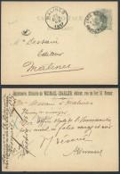 AL141 Entier Imprimerie Librairie De Namur à Malines 1887 - Entiers Postaux