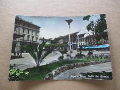 Acqui - Piazza Italia Dai Giardini - Viaggiata 1953 - Alessandria