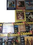 12 Numéros De L' Histoire 1980 à 1987 : N°231/34/41/65/87/91/93 à 95/97 à 99. - Geschiedenis