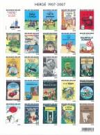 Tintin - 110éme Anniversaire Hergé - 24 Couvertures En 24 Langues + Hergé Et 25 Cartes Maximum - Comics