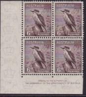 Australia 1942 Kookaburra SG 190 Mint Never Hinged Imprint Block - Neufs